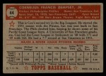 1952 Topps #44 RED Con Dempsey  Back Thumbnail