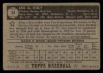 1952 Topps #54  Leo Kiely  Back Thumbnail
