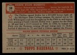 1952 Topps #59 RED Robin Roberts  Back Thumbnail