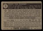 1952 Topps #58  Bob Mahoney  Back Thumbnail