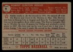 1952 Topps #9 RED Bobby Hogue  Back Thumbnail