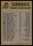 1974 Topps Red Checklist   -     Cardinals Back Thumbnail