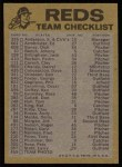 1974 Topps Red Team Checklists #7   Reds Team Checklist Back Thumbnail