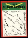 1974 Topps Red Checklist   -     Cardinals Red Team Checklist Front Thumbnail
