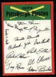 1974 Topps Red Team Checklists #20   Pirates Team Checklist Front Thumbnail