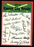 1974 Topps Red Checklist   Royals Front Thumbnail
