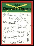 1974 Topps Red Checklist   Tigers Front Thumbnail