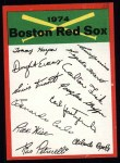 1974 Topps Red Checklist   Red Sox Front Thumbnail