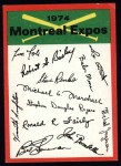 1974 Topps Red Team Checklists #15   Expos Team Checklist Front Thumbnail