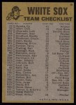 1974 Topps Red Checklist   White Sox Back Thumbnail