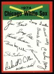 1974 Topps Red Team Checklists #6   White Sox Team Checklist Front Thumbnail