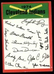1974 Topps Red Checklist   Indians Red Team Checklist Front Thumbnail