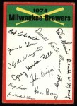 1974 Topps Red Checklist   Brewers Red Team Checklist Front Thumbnail