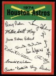 1974 Topps Red Checklist   Astros Front Thumbnail