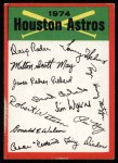 1974 Topps Red Checklist   Astros Red Team Checklist Front Thumbnail