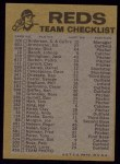1974 Topps Red Checklist   Reds Back Thumbnail
