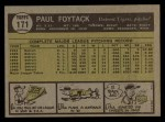 1961 Topps #171  Paul Foytack  Back Thumbnail