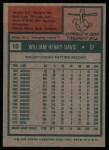 1975 Topps #10  Willie Davis  Back Thumbnail