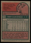 1975 Topps #142  Bob Reynolds  Back Thumbnail
