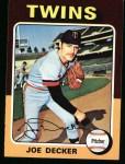 1975 Topps #102  Joe Decker  Front Thumbnail