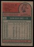 1975 Topps #43  Cleon Jones  Back Thumbnail