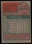 1975 Topps #114  Dick Lange  Back Thumbnail