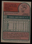 1975 Topps #132  Randy Moffitt  Back Thumbnail