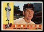 1960 Topps #268  Al Worthington  Front Thumbnail