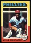 1975 Topps #162  Willie Montanez  Front Thumbnail