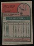 1975 Topps #62  Fritz Peterson  Back Thumbnail