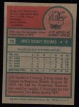 1975 Topps #73  J.R. Richard  Back Thumbnail