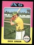 1975 Topps #91  Dick Green  Front Thumbnail