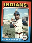 1975 Topps #109  George Hendrick  Front Thumbnail