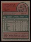 1975 Topps #112  Larry Hardy  Back Thumbnail