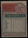 1975 Topps #39  Andre Thornton  Back Thumbnail