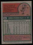 1975 Topps #82  Pat Kelly  Back Thumbnail