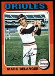 1975 Topps #74  Mark Belanger  Front Thumbnail