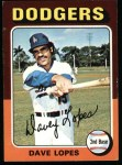 1975 Topps #93  Davey Lopes  Front Thumbnail