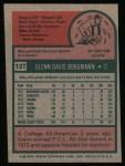 1975 Topps #127  Glenn Borgmann  Back Thumbnail