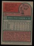 1975 Topps #136  Jim Mason  Back Thumbnail