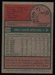 1975 Topps #144  Jim Wohlford  Back Thumbnail