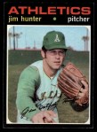 1971 Topps #45  Catfish Hunter  Front Thumbnail