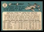 1965 Topps #197  Diego Segui  Back Thumbnail