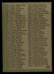 1971 Topps #123 B  Checklist 2 Back Thumbnail