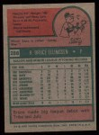 1975 Topps #288  Bruce Ellingsen  Back Thumbnail