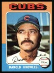 1975 Topps #352  Darold Knowles  Front Thumbnail