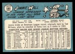 1965 Topps #580  Jimmie Hall  Back Thumbnail