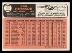 1966 Topps #148  Bob Johnson  Back Thumbnail
