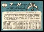 1965 Topps #47 ^COR^ Tommy Harper   Back Thumbnail