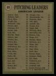 1971 Topps #69   -  Mike Cuellar / Dave McNally / Jim Perry AL Pitching Leaders   Back Thumbnail
